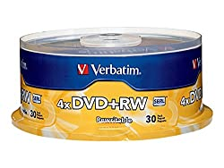 Dvd+rw Discs, 4.7gb, 4x, Spindle, 30pack