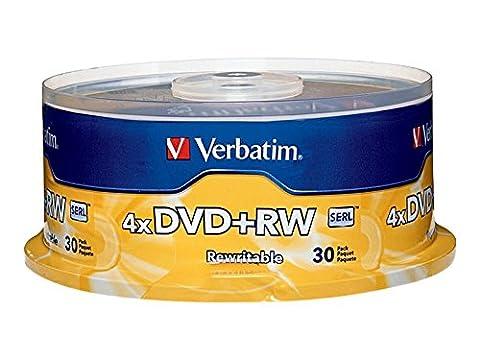 DVD+RW Discs, 4.7GB, 4x, Spindle,