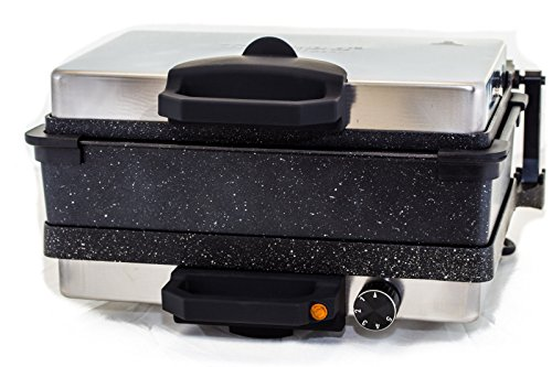 Roland Multigrill Kontaktgrill Elektrogill Tischgrill Toaster mit Kasserolle Granit/Marmor Antihaftbeschichtung Lahmacun Makinasi