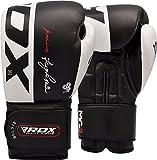 RDX Guantoni Boxe per Muay Thai e Allenamento | Vacchetta Pelle Guanti da Sacco per Kickboxing, Sparring | Grande per Colpitori Punzonatura, Sacchi Pugilato, Boxing Gloves
