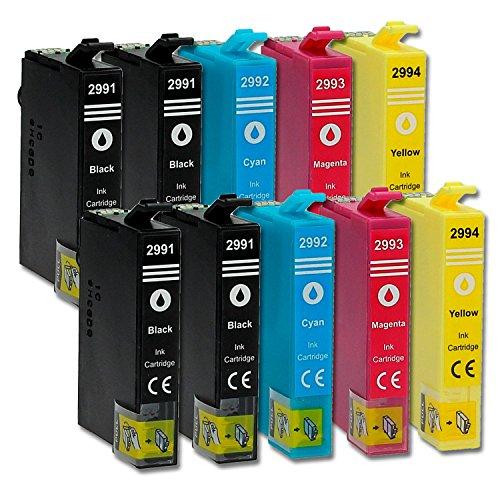 Preisvergleich Produktbild 10 Druckerpatronen kompatibel zu Epson 29-XL / T2985 / T2995 (4x Schwarz, 2x Cyan, 2x Magenta, 2x Gelb) passend für Epson Expression Home XP-240 XP-245 XP-247 XP-330 XP-332 XP-335 XP-340 XP-342 XP-345 XP-430 XP-432 XP-435 XP-440 XP-442 XP-445