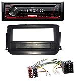 caraudio24 JVC KD-T402 USB AUX MP3 1DIN CD Autoradio für Smart ForTwo (451, ab 2010)