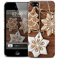 Stelle e appesi Natale, alberi di biscotto iPhone 5 / 5S copertura della cassa del telefono di protezione in