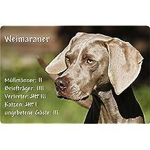 +++ WEIMARANER - Metall WARNSCHILD Schild Hundeschild Sign - WEI 05 T4