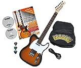 Rocktile Pro TL100-SB Guitare 2-Tone électrique Sunburst avec accessoires