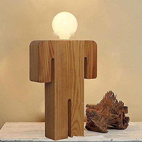 Kesierte Chêne massif en bois modernes garçons et filles étude de la lampe de mode chevet chambre lampe de table mariage , boys