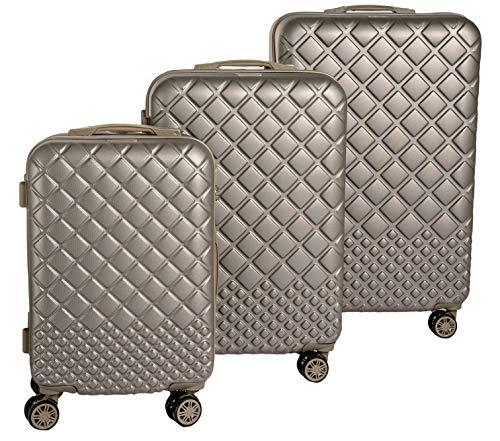 Set Tre Trolley da Viaggio, Valigie Rigide ABS in Tre Dimensioni Enrico Coveri Moving (Verde)