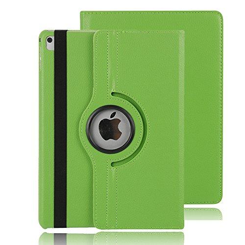 7,9 Inch iPad Mini 2 Abdeckung, TechCode® Magnetic Detachable Hidden Multi-angle Folio 360 Grad Drehende Stand Cover Smart Hülle für iPad Mini 1/2/3 inch (iPad Mini 1/2/3, Grün)