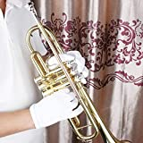 SG Musical White Golves for Saxophone/Trumpet Marching Bands