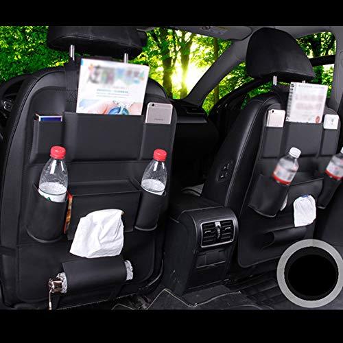NJYY Auto Aufbewahrungstasche Sitzlehne Leder Kinder Anti-Kick-Reinigung Aufbewahrungstasche Multifunktionsspeicher 40 * 50 cm,C