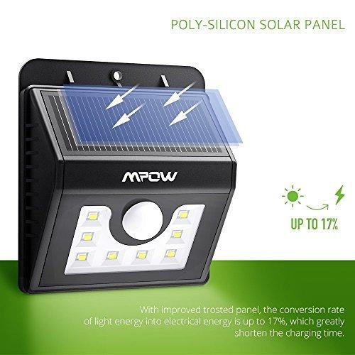 Mpow Solarleuchte 8 LED Solarlampe Sicherheits-, Bewegungs Licht Sensor mit 3 Intelligenten Modi für Garten usw. - 4