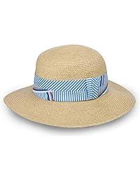 Aszhdfihas Sombrero de Playa Mujer Verano de ala Ancha Playa Sombrero de Paja  Plegable Sombrilla Playa Sol Sombrero Grande Moda… 586b56537b0