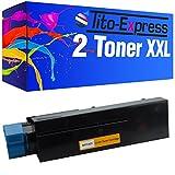 PlatinumSerie® 2 Toner-Patronen XXL kompatibel für OKI B411 Schwarz B411D B411DN B431D B431DN B431DN Plus MB461