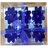Ratnatraya Blue Diamond Shapped Set Of 6 Decorative Gel Floating Diya For Home Decoration, Inside And Outside