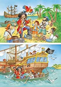 Ravensburger 09168 El Mundo de los Piratas - Puzzle (2 Modelos de 20 Piezas)