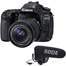 Canon EOS 80D DSLR Camera With 18-55mm Lens Plus Rode VideoMic Pro And Rycote Lyre Shockmount
