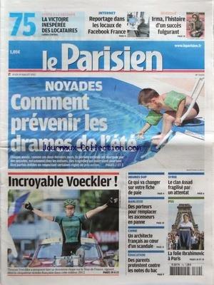 PARISIEN (LE) [No 21105] du 19/07/2012 - NOYADES -...