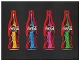 Artopweb Pannelli Decorativi Coca-Cola Pop Art Quadro, Legno, Carta, Vernice, Multicolore, 80x1.8x60 cm