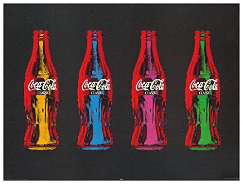 Artopweb Pannelli Decorativi Coca-Cola Pop Art Quadro, Legno, Multicolore, 80x1.8x60 cm