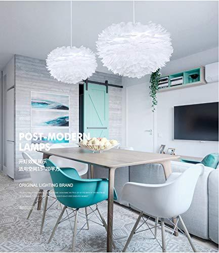 Feder Kronleuchter Nordic Kreative Einfache Mode Kunst Warme Romantische Schlafzimmer Dekoration Persönlichkeit Postmoderne Beleuchtung Weiße Glühbirne 70 Cm 60 Watt -