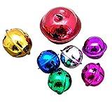Daorier Lot de 10 Grelots Petit Noël Jingle Bells Perles Breloques Bijoux Multicolore 3cm Couleur Aléatoire