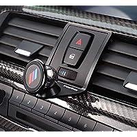 Tianrui Crown Alloy Car Air Vent Mobile Phone Holder Trim for BM F22 F23 F30 F31 F34 F32 F33 F34 F35 F36 F80 F82 M4 2013-2019 with a M Logo (Black)
