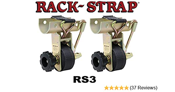 Pack of 2 Rack-Strap RS3 Yellow Zinc Plated Steel Frame Curved Mounting Bracket with 8 Black Polyester Strap Pack of 2 For 2 OD Round Pipe RS-3 For 2 OD Round Pipe 500 lbs Load Capacity