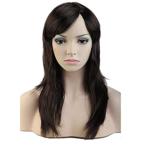 S-noilite Women Long Straight Full Head Wig Cosplay Party Fancy Dress Real Thick 100% Brand New (20-straight, dark brown) by S-noilite