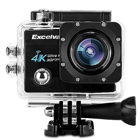 """Excelvan Sport Caméra WIFI 2"""" 4K 30fps 16MP H.264 170°Grand Angle Caméra D'action DV avec Micro USB et Port HDMI (Noir)"""