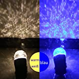 SMITHROAD LED Projektionslampe mit Erdspieß Wand Beleuchtung für Halloween Karneval Weihnachten Innen & Außen IP44 Gartenstrahler Zweifarbig Farbwechsel,Blau und Warmweiß