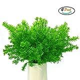 FUJIE 4 Stück Kunstpflanze Sträucher Dekor Künstliche Sträucher Simulation Pflanzen Büsche Blumensträuße aus Kunststoff Dekoration für Drinnen und Draußen, Haus, Büro