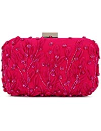 SVAZ Designer Delicate Hand Embroidery, Thread Work Clutches For Women And Girls - B07GTJ98YQ