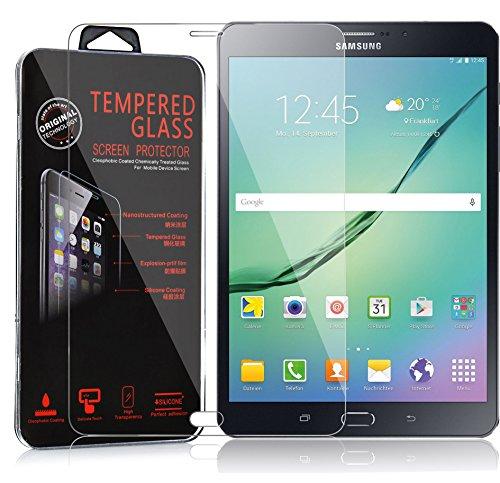 Preisvergleich Produktbild Cadorabo Panzer Folie für Samsung Galaxy Tab S2 (8 Zoll) - Schutzfolie in KRISTALL KLAR – Gehärtetes (Tempered) Display-Schutzglas in 9H Härte mit 3D Touch Glas Kompatibilität