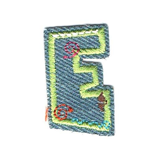 Coudre Thermocollant DIY Brodé Patch Couleur de Lettres de l'alphabet Lettres Vêtements Décoration (Bleu-e)