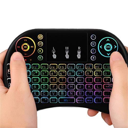 Shuzhen,i8 Mini-Backlight-Tastatur für kabellose Tastatur - SCHWARZ(Color:SCHWARZ)
