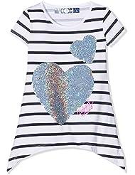 Desigual Mädchen Kurzarm-T-Shirt mit Herz aus zweifarbigen Wende-Pailletten