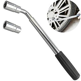Tire Reifen Lug Radmutternschlüssel, ausziehbar 17mm 19mm 21mm 23mm replair Tools Set Kit für Autos Vans
