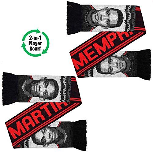 Manchester United – Bufanda con las superestrellas Martial y Depay – Jacquard – Negro