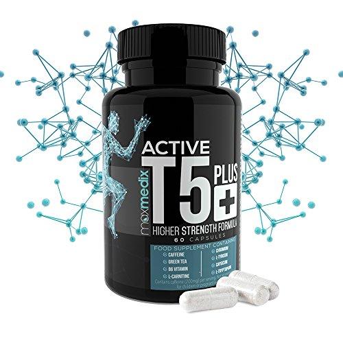 T5 Plus Fatburner Kapseln - Natürlicher Fettburner Acitve Black Zum Abnehmen - Schlank durch Thermogenese | Tabletten Für Männer Und Frauen | Fatburner | Regt den Stoffwechsel an | Supplement