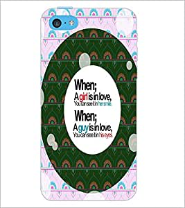 PrintDhaba Quote D-4455 Back Case Cover for APPLE IPHONE 5C (Multi-Coloured)