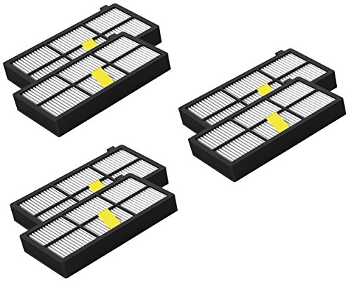 ILFtrend Replacement for iRobot Roomba 800/900 series (870, 871, 880, 890, 980) Pack of 6 X pack HEPA filter 2-3 Tage Ankunft (900-serie-fernbedienungen)