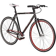 """Fixie 28 Zoll Singlespeed Retro Fahrrad 28"""" Fitnessbike Fixed Gear Rennrad Bike Flip Flop Nabe 52 cm/56 cm Rahmenhöhe Damen Herren in 4 Farben und 2 Größen"""
