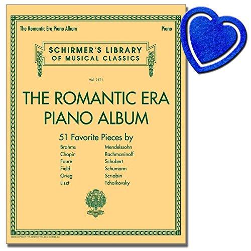 Preisvergleich Produktbild The Romantic Era Piano Album - 51 romantische Klavierstücke - arrangiert für Klavier [ Noten / Sheetmusic ] - mit bunter herzförmiger Notenklammer