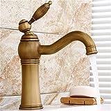 Hlluya Wasserhahn für Waschbecken Küche Die messinghähne antike Waschbecken Tischplatte warme und kalte Küche Wasserhahn