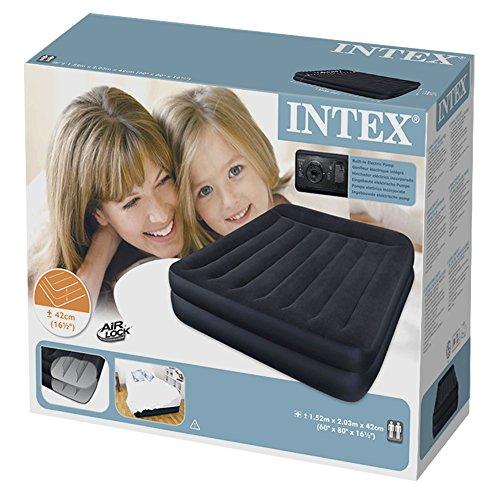 Intex Luftbett Pillow Rest Blue Queen (230 V), blau, 152 x 203 x 42 cm - 3
