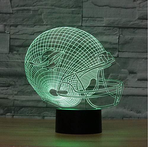 Led Optical Illusion Lampe Miami Dolphins Fußball Helm Nachtlichter Mehrfarbige Led Kreative Gadget Kida Kiddie Geschenk