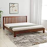 Amazon Brand - Solimo Draco Solid Sheesham Wood King Bed (Teak Finish)