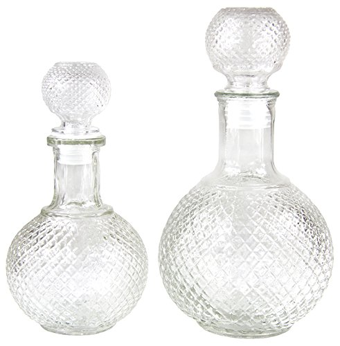 Karaffe Glaskaraffe elegant Glas Kanne mit Stöpsel 2 Größen 490 - 1000 ml (490 ml)