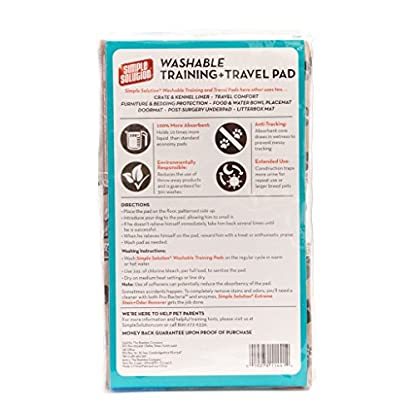 Simple Solution Washable Travel and Training Pad for Small/ Medium Dogs 3