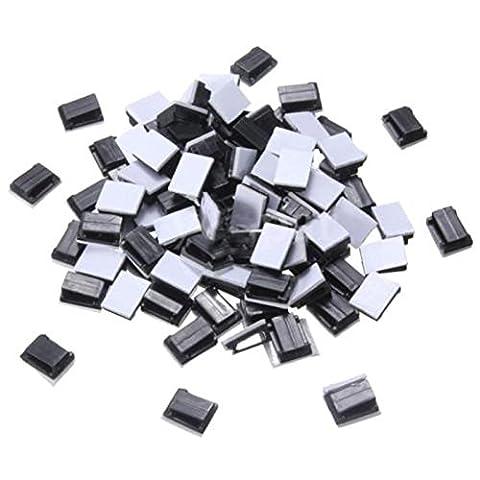 clip en plastique - TOOGOO (R)100 Pcs fil noir en